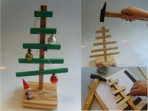 Hoe kun je een kerstboom timmeren ?