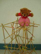 Toren bouwen - Bamboestiek