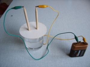 Elektrolyse van zoutwater