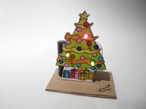 Licht in de kerstboom