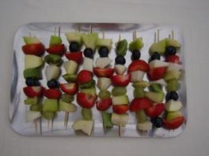 Hoe maak je een fruitsaté ?